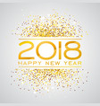 2018 happy new year background with vector image vector image