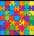 49 multicolor outline background jigsaw banner vector image
