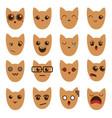 a set of emoticons emoticons emoji cat vector image vector image