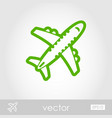 aircraft outline icon travel summer vacation vector image vector image