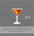 alcoholic manhattan cocktail card vector image vector image