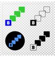 bitcoin blockchain eps icon with contour vector image