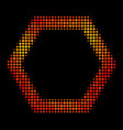 bright pixel contour hexagon icon vector image vector image