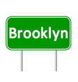 Brooklyn green road sign vector image vector image