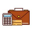business briefcase calculator check bank vector image vector image