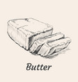 butter hand drawn vector image vector image