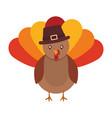 cartoon turkey icon vector image