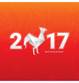 Chinese new year card with rooster vector image vector image
