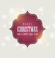 christmas background with decorative text vector image vector image