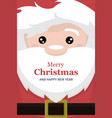 christmas card brochure with face and body of sant vector image vector image