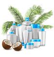 coconut cosmetics vector image vector image
