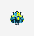 colorful logo emblem mountain bike icon bicycle vector image