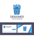 creative business card and logo template fries vector image vector image