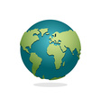 Earth Planet Sign of globe Space Earth on white vector image vector image