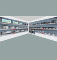 electronic department store with electrical vector image vector image