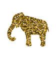 elephant gold icon vector image