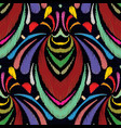 embroidery abstract hand drawn seamless pattern vector image