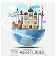 Estonia Landmark Global Travel And Journey vector image vector image