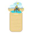 fishing man on lake or riverside back flat poster vector image vector image