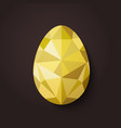 flat design polygon golden egg isolated vector image