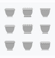 flower pots curved collection vector image vector image