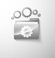 gear folder vector image vector image