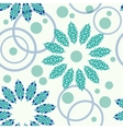 Geometric pattern of circles and flowers vector image