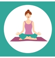 Girl In Lotus Yoga Position vector image