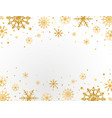 gold snowflakes frame on white background golden vector image vector image