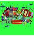 Great Britain line art design vector image vector image
