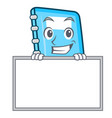 grinning with board education character cartoon vector image vector image