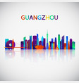 guangzhou skyline silhouette vector image vector image