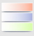 Halftone abstract 3d banners collection on white