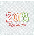 happy new year 2018 abstract design vector image vector image