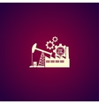 industry icon Modern design flat style vector image vector image