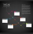 infographic dark diagonal timeline report template vector image vector image