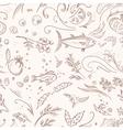 Italian food pattern vector image vector image
