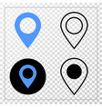 map marker eps icon with contour version vector image vector image