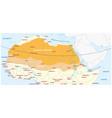 map sahara desert and sahel zone vector image vector image