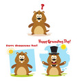 marmot cartoon character collection - 4 vector image vector image