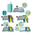 method to prepare clothes and necessities vector image vector image