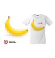 modern t-shirt print design with banana emoji vector image