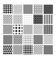 monochrome seamless patterns vector image vector image
