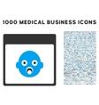 Newborn Head Calendar Page Icon With 1000 Medical vector image vector image