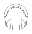 padded headphones icon vector image vector image