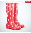Pair of yellow rain boots vector image