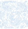 Paisley lace seamless pattern vector image