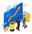 partnership handshake business mans b2b vector image vector image