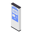 payment outdoor terminal icon isometric style vector image vector image