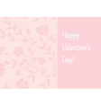 pink card for valentines day vector image